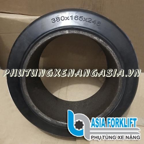 Bánh xe nâng điện cao su 380x165x246, Nichiyu FBR20-50-60-72-75